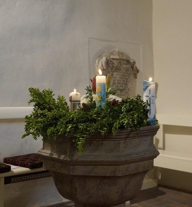 Erinnerung an die Taufe